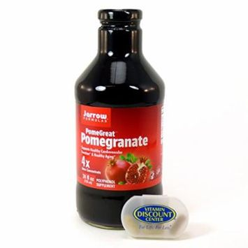 Bundle - 2 Items: 1 Bottle of Pomegranate Juice Concentrate by Jarrow - 24 Fluid Ounces and 1 VDC Pill Box