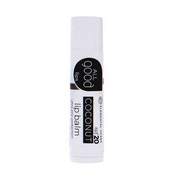 Elemental Herbs - All Good Lips SPF 20 Lip Balm Coconut - 4.25 Grams