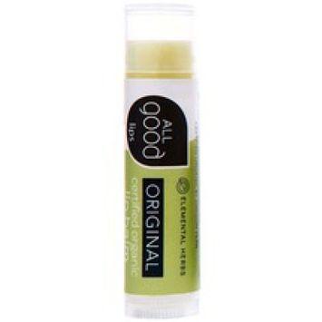 Elemental Herbs B46411 Elemental Original Certified Organic All Good Lips -18x4