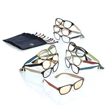 JOY MANGANO 20-PIECE READING GLASSES COUTURE SHADES READERS WITH SMART LENSES AND DESIGNER FRAMES +3.50 by Joy Mangano