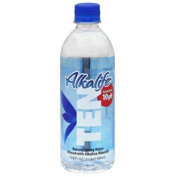 Alkalife Ten Alkaline Spring Water with Electrolytes, 16.9 fl oz, (Pack of 24)