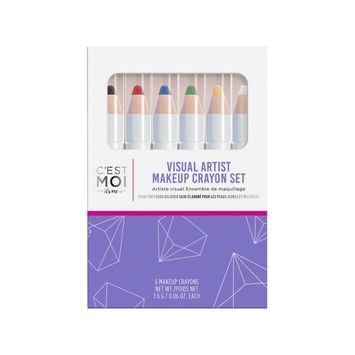 C'est Moi Visual Artist Makeup Crayon set - 6pc - 0.06 oz/each