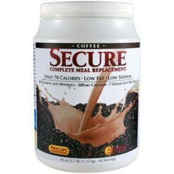 Andrew Lessman Secure Soy Complete Meal Replacement - Coffee, 100 Servings