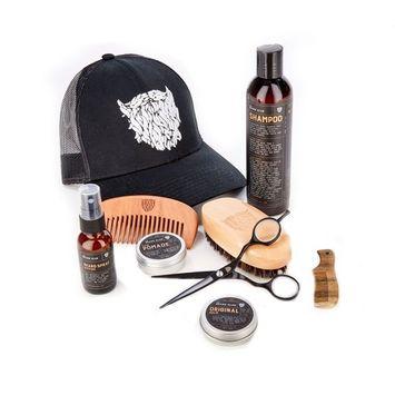 Advanced Beard Grooming Kit | The Beard Club | Hat, Scissors, Beard Balm, Riptide Beard Spray, Hair Pomade, Hair & Beard Shampoo, Boar Bristle Beard Brush, Regular Comb & Mustache Comb
