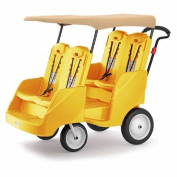 Foundations Gaggle 4 Multi-Passenger Buggy Stroller - Yellow