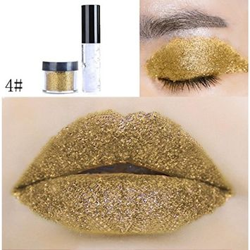 Kanzd 20 Colors Shimmer Glitter Lip Gloss Powder Palette Long-lasting Water-tight Lipstick Cosmetic Eye shadow