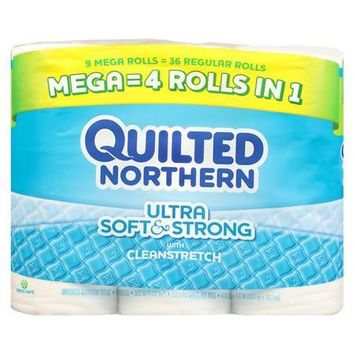 Quilted Northern Ultra Mega Soft & Strong Bath Tissue 325 sh 9.0 ea (Pack of 4)