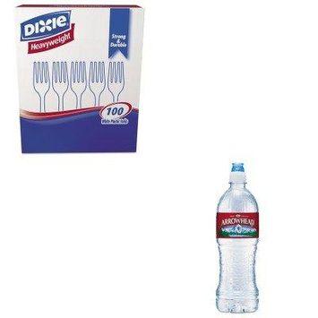 KITDXEFH207NLE827165 - Value Kit - Arrowhead Distilled Natural Spring Water (NLE827165) and Dixie Plastic Cutlery (DXEFH207)
