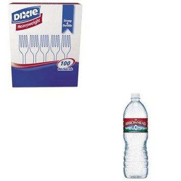 KITDXEFH207NLE827173 - Value Kit - Arrowhead Distilled Natural Spring Water (NLE827173) and Dixie Plastic Cutlery (DXEFH207)