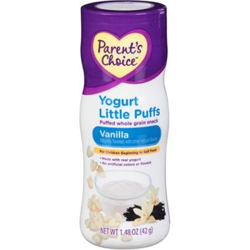 Perrigo Parent's Choice Little Puffs, Vanilla Yogurt, 1.48 oz