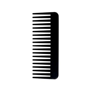 Salonchic 6 1/4 Fluff Carbon Comb High Heat Resistant (perfect for use with irons)
