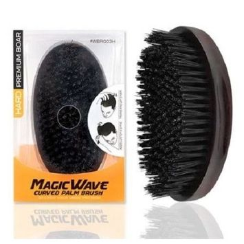 Premium Boar Magic Wave Curved Palm Brush (HARD)