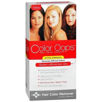 Color Oops Extra Strength Hair Color Remover 1.0 Application