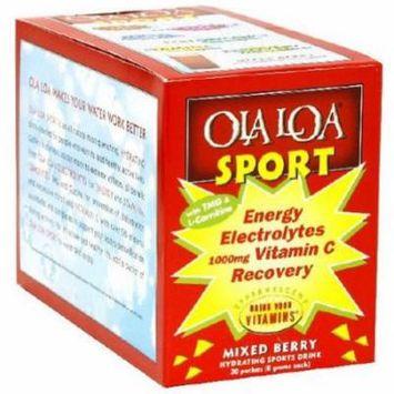 Ola Loa Sport, Energy Electorlytes Vitamin C Recovery Drink Mix, Mixed Berry, 30 CT