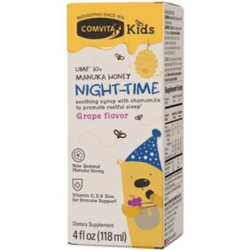 Kids Manuka Honey Night-Time Soothing Syrup - GRAPE (4 Fluid Ounces Syrup) by Comvita