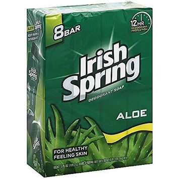 Irish Spring Aloe Deodorant Bar Soap, 3.75 oz bars, 8 ea