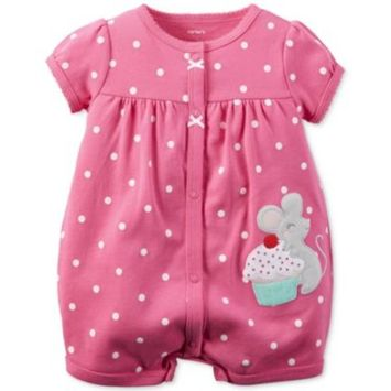 Baby Girls' Cupcake Mouse Romper