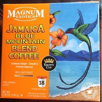 Magnum Exotics JAMAICA BLUE MOUNTAIN Blend Coffee k-cup 18 cts. (Pack of 2)