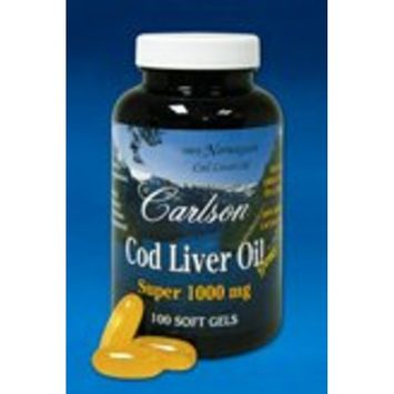 Carlson Laboratories Carlson Labs - Super Cod Liver Oil 1000 mg 100 gels