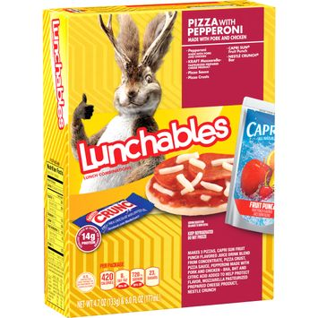 Lunchables Lunch Combinations Pizza with Pepperoni, 10.7 oz Box
