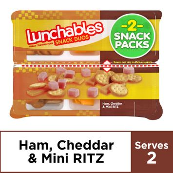 Lunchables Snack Duos Ham & Cheddar with Ritz Bits, 3.66 oz Package