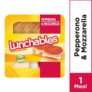 Lunchables Lunch Combinations Pepperoni & Mozzarella with Crackers, 2.25 oz Package