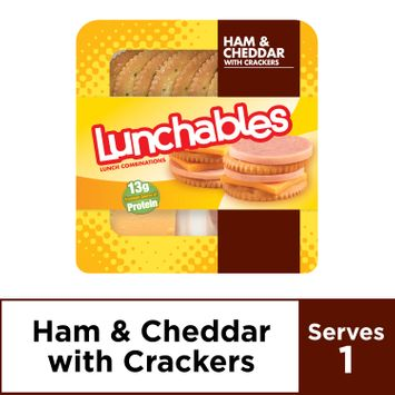 Lunchables Lunch Combinations Ham & Cheddar with Crackers, 3.2 oz Package