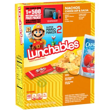 Lunchables Lunch Combinations Nacho Cheese Dip & Salsa, 10.7 oz Box
