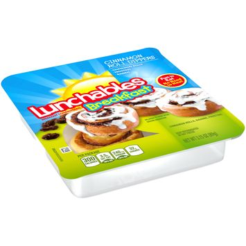 Lunchables Breakfast Combinations Cinnamon Roll Dippers, 3.15 oz Package