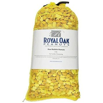 Royal Oak Gourmet Virginia Raw Out Of The Shell Peanuts, 5 Pound Bags (Pack of 2)