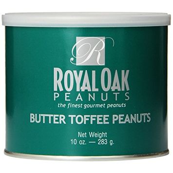 Royal Oak Gourmet Butter Toffee Peanuts, 10-Ounce Tins (Pack of 6)