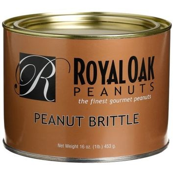 Royal Oak Gourmet Peanut Brittle, 16-Ounces Tin (Pack of 2)