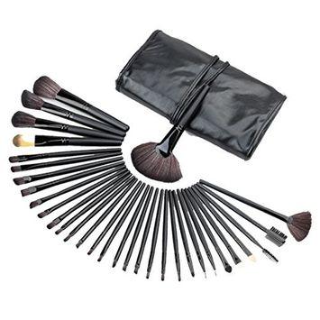 RNTOP 32PCS Mini Make Up Brushes Foundation Eyebrow Eyeliner Blush Cosmetic Concealer Lip Face Brushes