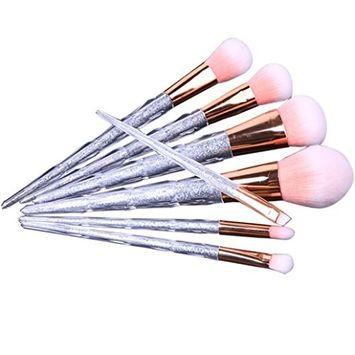 RNTOP 7 PCS Make Up Foundation Eyebrow Eyeliner Blush Cosmetic Concealer Brushes