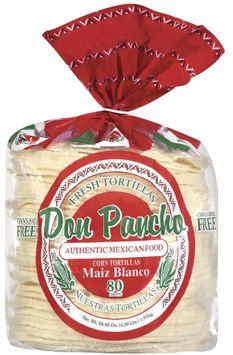 Don Pancho White Corn/Maiz Blanco 80 Ct Tortillas