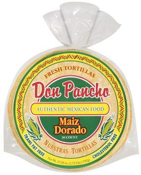 Don Pancho Golden Corn/Maiz Dorado 30 Ct Tortillas