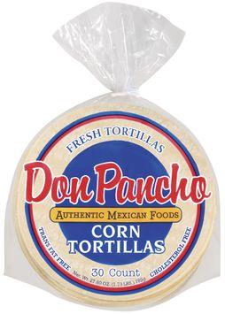 Don Pancho Corn 30 Ct Tortillas