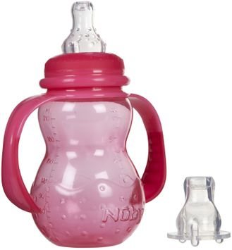 Nuby 3 Stage Polypropylene Bottle - 7 oz - Girl - 1 ct.