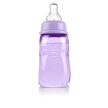 Nuby Tinted Bottle, 4 Ounce, Colors May Vary