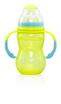 Nuby Wide Neck Bottle - 10 oz - Girl
