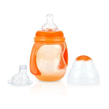 Nuby 3-Stage 8-oz. Wide-Neck Bottle, Orange