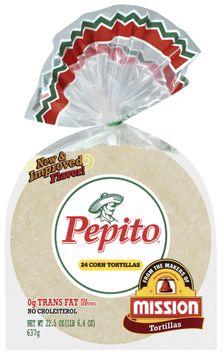 Pepito Corn 24 Ct Tortillas