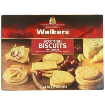 Walkers Shortbread Scottish Biscuits for Cheese, 8.8-Ounce Boxes (Pack of 3)