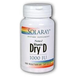 Solaray Dry Vitamin D 1000iu 1000 - 60 Veggie Caps - Vitamin D