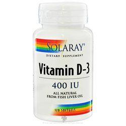 Solaray Vitamin D-3 - 400 IU - 120 Softgels