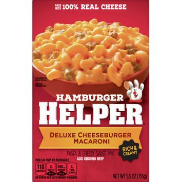 Betty Crocker Hamburger Helper, Deluxe Cheeseburger Macaroni Hamburger Helper, 5.5 Oz Box
