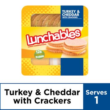 Lunchables Lunch Combinations Turkey & Cheddar with Crackers, 3.2 oz Package