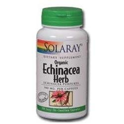 Solaray Echinacea Herb O 380 MG - 100 Capsules - Other Herbs
