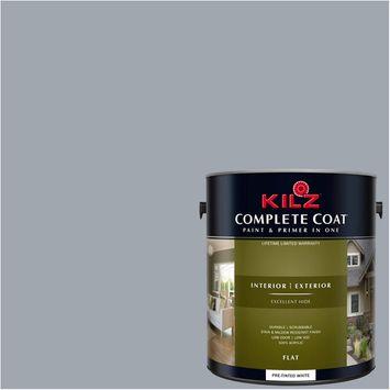 KILZ COMPLETE COAT Interior/Exterior Paint & Primer in One #RK240 Sensual Silver