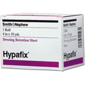 Smith & Nephew Hypafix Non-Woven Fabric Dressing Retention Tape 4'' X 10 yds, Pack of 4